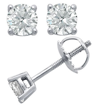 Moonlight - Solitaire Diamond Earrings