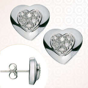 Heart Collection-Diamond Earrings - Heartbeats