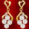Facetzinspire Diamond & Pearl Earrings