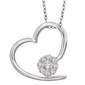 Facetzinspire Diamond Gold Heart Pendant