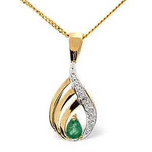 Facetzinspire Diamond & Ruby Gold Pendant