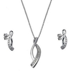 Facetzinspire Diamond Pendant Set
