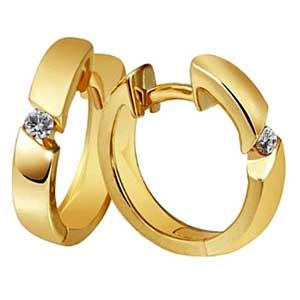 Facetzinspire Diamond Gold Earrings