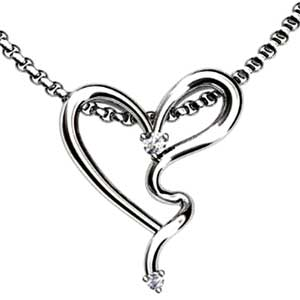 Facetzinspire Diamond Heart Gold Pendant