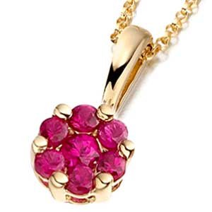 Facetzinspire Ruby Gold Pendant