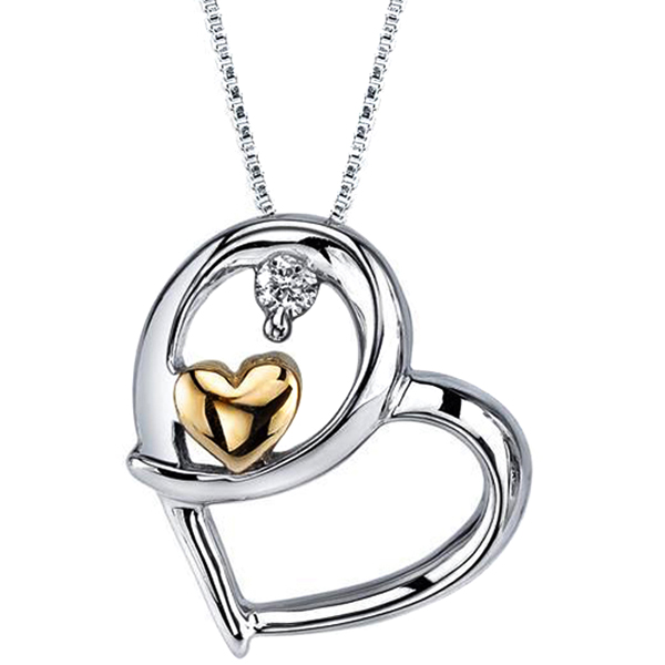 Gift FacetzInspire Diamond Heart Pendant on Valentines Day