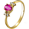 Facetzinspire Real Diamond Lab Ruby Gold Ring