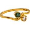 Facetzinspire Real Diamond Lab Emerald Gold Ring