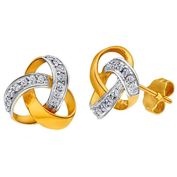 FacetzInspire Real Diamond Sterling Sliver Earrings