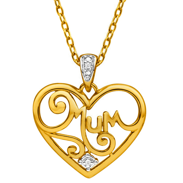 FacetzInspire Diamond Mom Heart Pendant