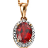 FacetzInspire Diamond Lab Garnet Sterling Silver Pendant