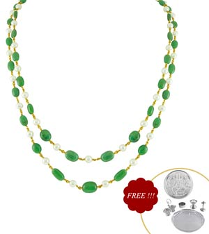 Jpearls Emerald Gold Necklace