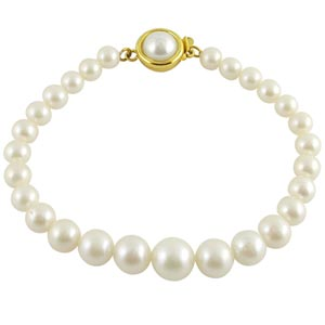 Jpearls Single Line Beautiful Pearl Bracelet