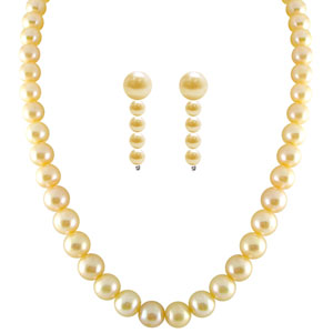Pearl Sets-Jpearls Single Line Peach Pearl Set