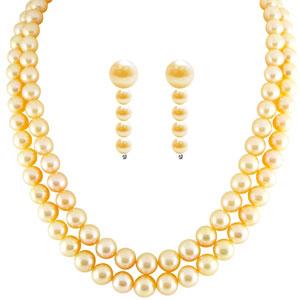Pearl Sets-Jpearls Doubleline Peach Pearl Set