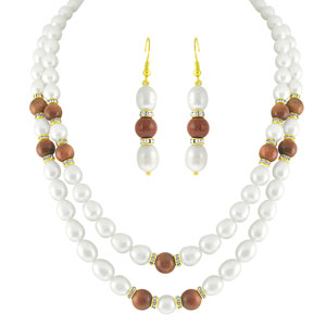 Jpearls Two String Pearl Necklace Set