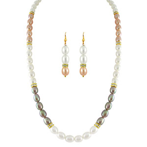 Pearl Sets-Jpearls Multicolor Pearl Set