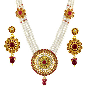 Pearl Sets-Jpearls Splendid Rani Haar
