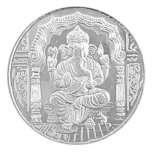 Jpearls Ganesha Silver Coin
