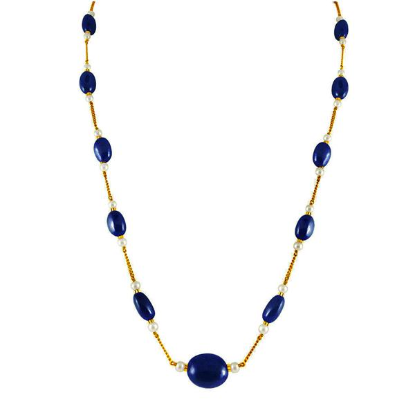 Jpearls Blue Sapphire Gold Chain