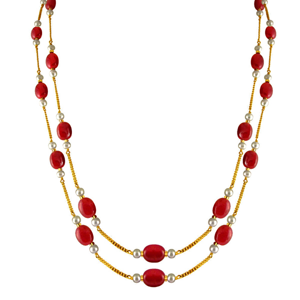 Jpearls Ruby Gold Chain