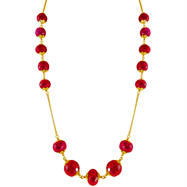 Jpearls Eminence Ruby Gold Chain