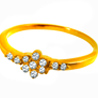 Jpearls Rose Diamond Finger Ring