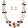 Jpearls Daisy 2 Line Pearl Necklace Set