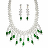 Jpearls Green Drop Pearl Bridal Set