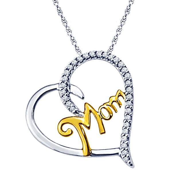 Jpearls Mom Diamond Pendant