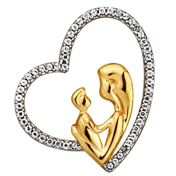 Jpearls Mom-Symbolical Of Love Diamond Pendant
