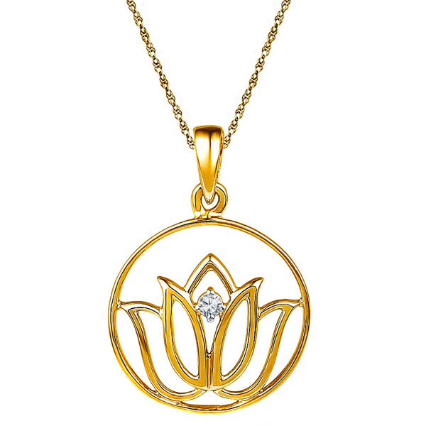 Jpearls 18kt Gold Diamond Pendant
