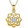 Jpearls 18kt Gold Sitara Diamond Pendant