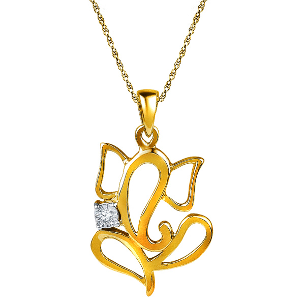 Jpearls 18 kt Gold Diamond Pendant