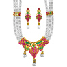 Jpearls Ethnic Pearl Necklace Set