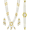 Jpearls Classic Necklace Set with Watch