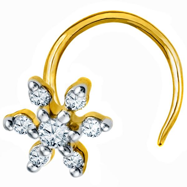 Jpearls Diamond Nose Pin