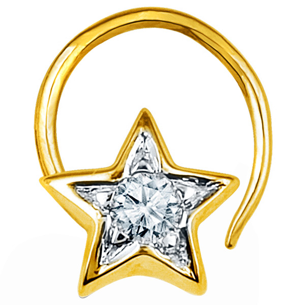 Jpearls Diamond Star Nose Pin