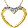 Jpearls Honey Heart Diamond Pendent