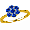 Jpearls Blue Sapphire Finger Ring