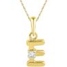 Jpearls Gold Alphabet E Diamond Pendent