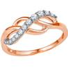 Jpearls�Rose Gold Diamond Ring
