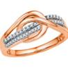 Jpearls�Rose Gold Noble Diamond Ring