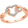 Jpearls�Rose Gold Grand Heart�Diamond Ring