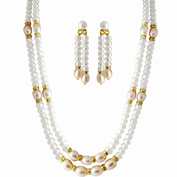 Jpearls 2 Line Facund Pearl Set.