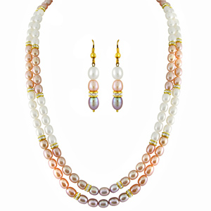 Pearl Sets-Jpearls Multicolored Classic Pearl Set