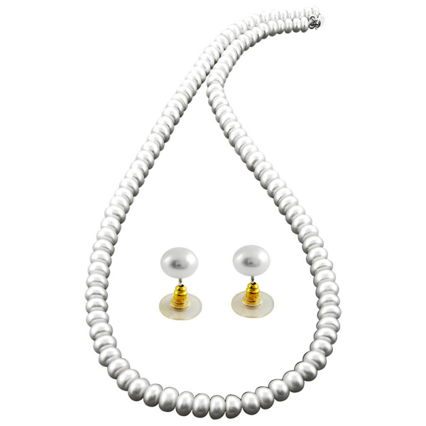 Jpearls Simply The White Pearl Necklace