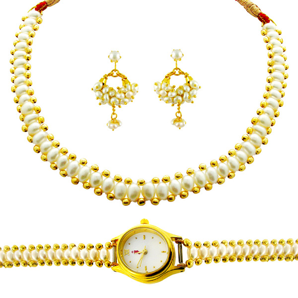 Jpearls Shringar Pearl Set