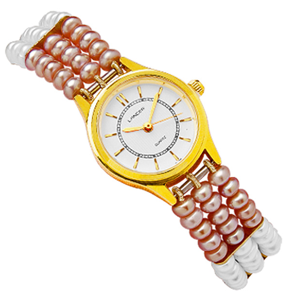 Jpearls Classic Button Pearl Watch