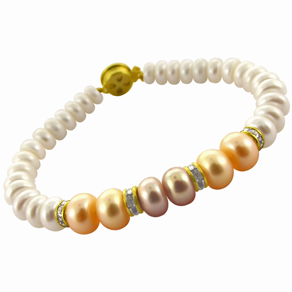 Jpearls Multi Colored Pearl Braclet